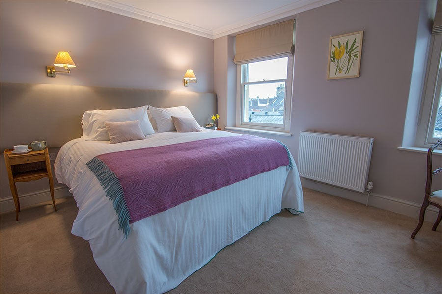 Luxury Bed and Breakfast guest room at Bistro Lotte in Frome