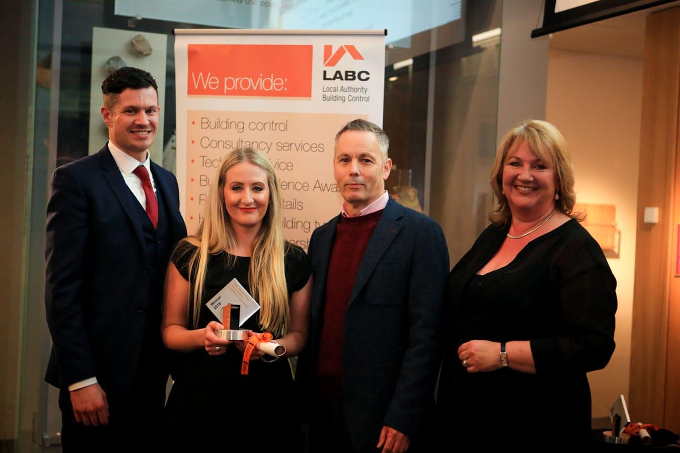 Bistro Lotte Renovtaion Team at Apex House win award