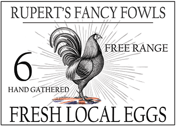 Rupert's Fancy Fowls Free range eggs logo